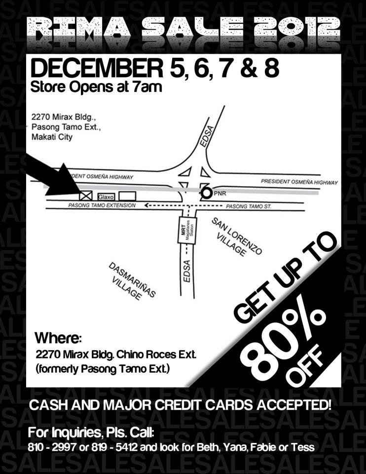 RIMA Sale @ Mirax Building December 2012