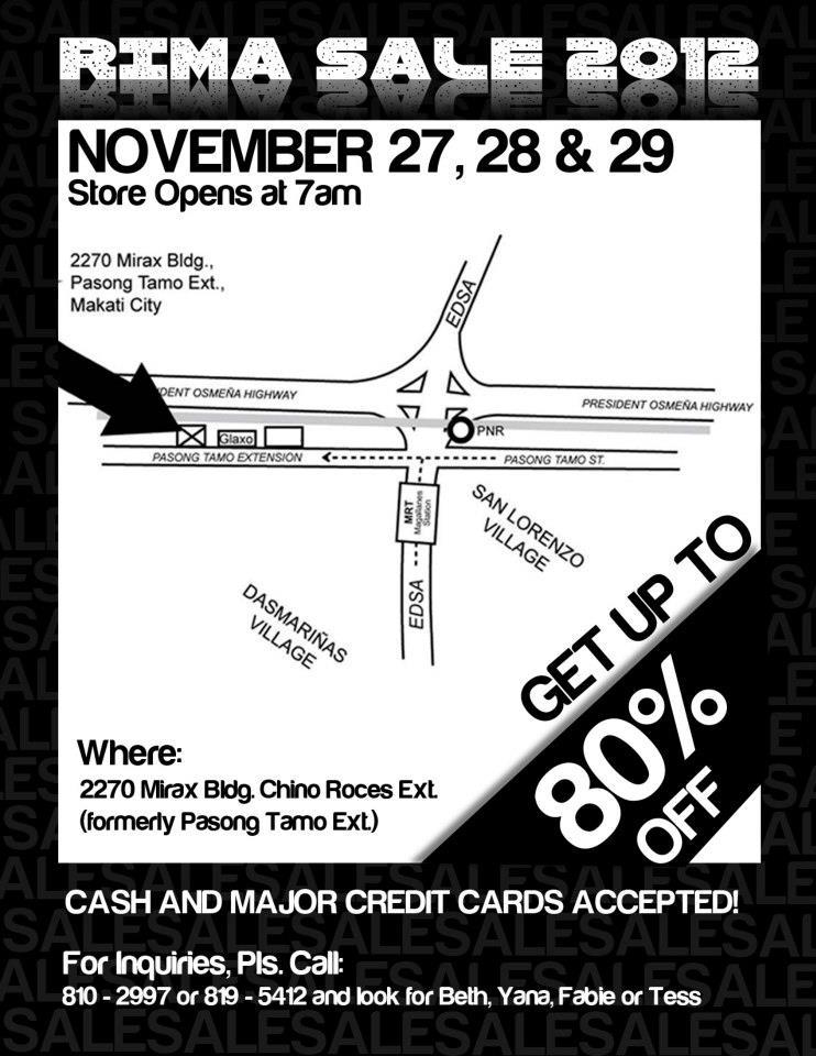 RIMA Sale November 2012