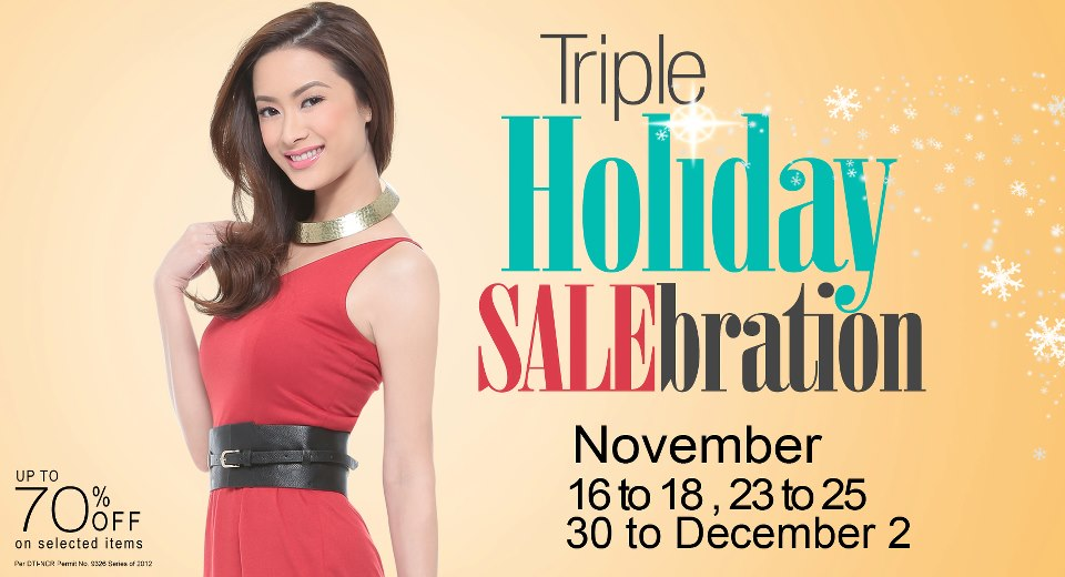 Robinsons Department Store Sale November 2012