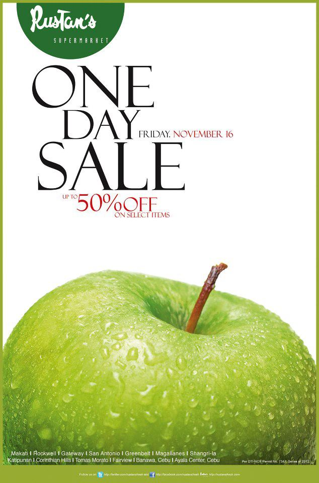 Rustan's Supermarket One Day Sale November 2012