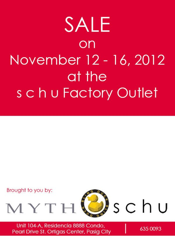 Schu Factory Outlet Sale November 2012