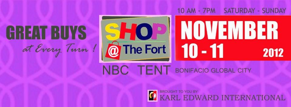 Shop @ The Fort November 10-11, 2012