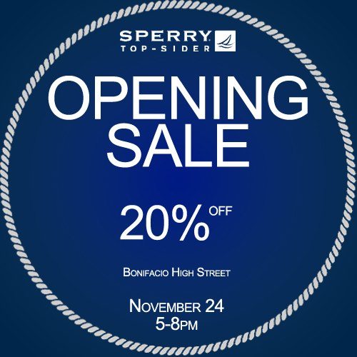 Sperry Top-sider Opening Sale @ Bonifacio High Street November 2012