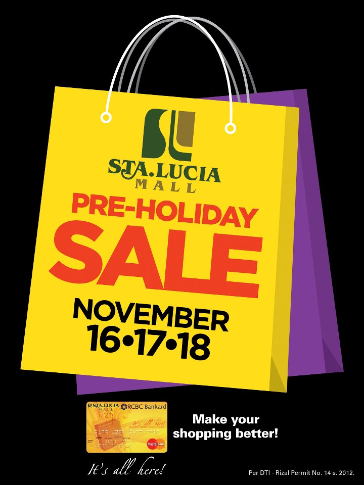 Sta. Lucia East Grand Mall Pre-Holiday Sale November 2012