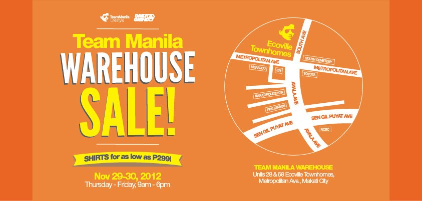 Team Manila Warehouse Sale November 2012