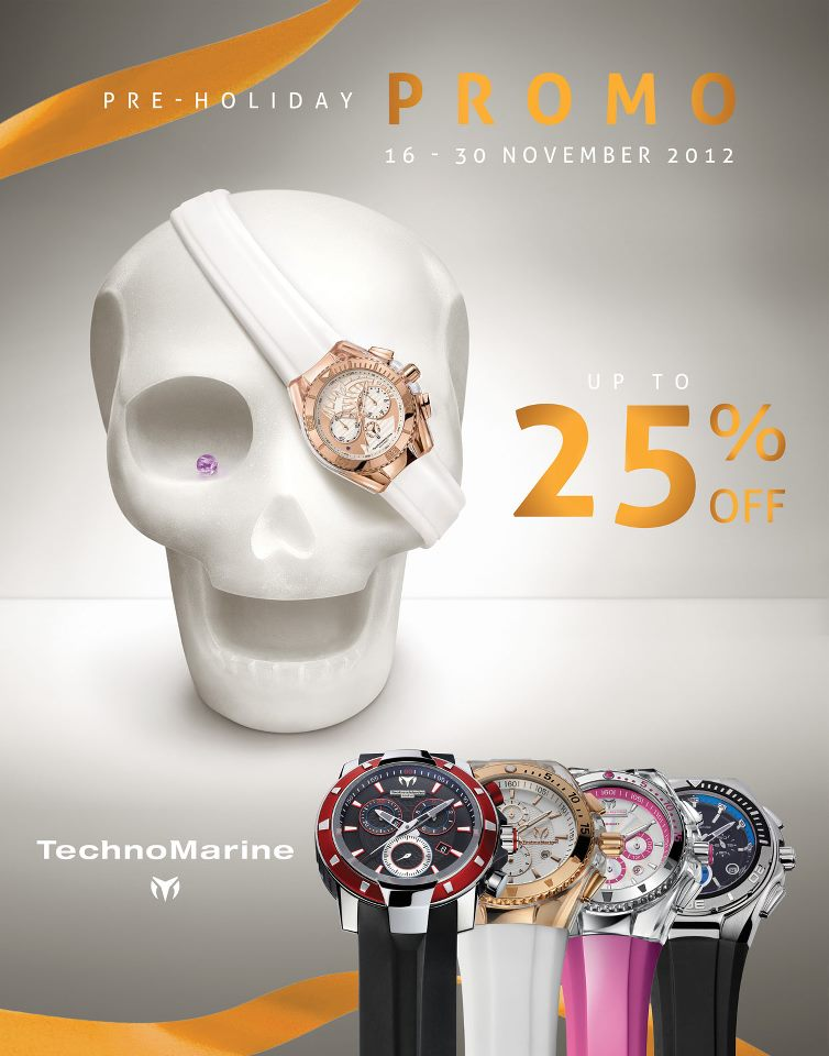 TechnoMarine Pre-Holiday Sale November 2012