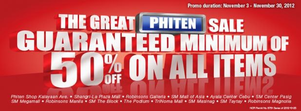 The Great Phiten Sale November 2012