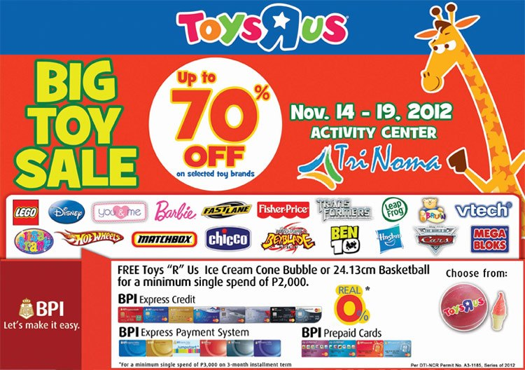 Toys R Us Big Toy Sale at Trinoma November 2012