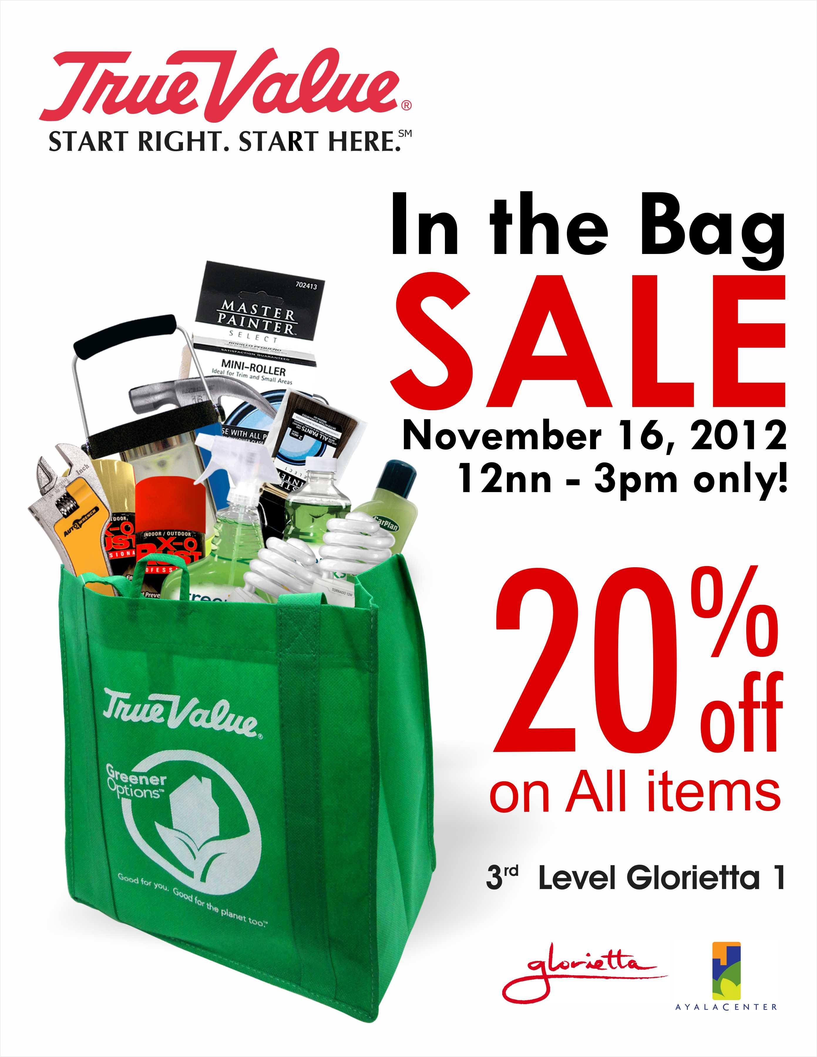 True Value Glorietta In the Bag Sale November 2012