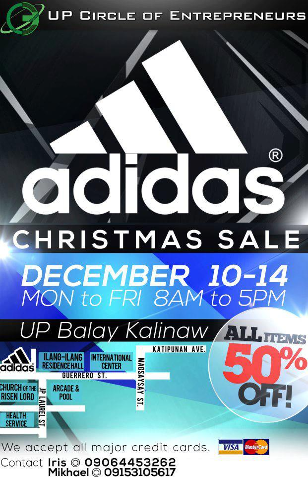 Adidas Brands Sale @ UP Balay Kalinaw December 2012