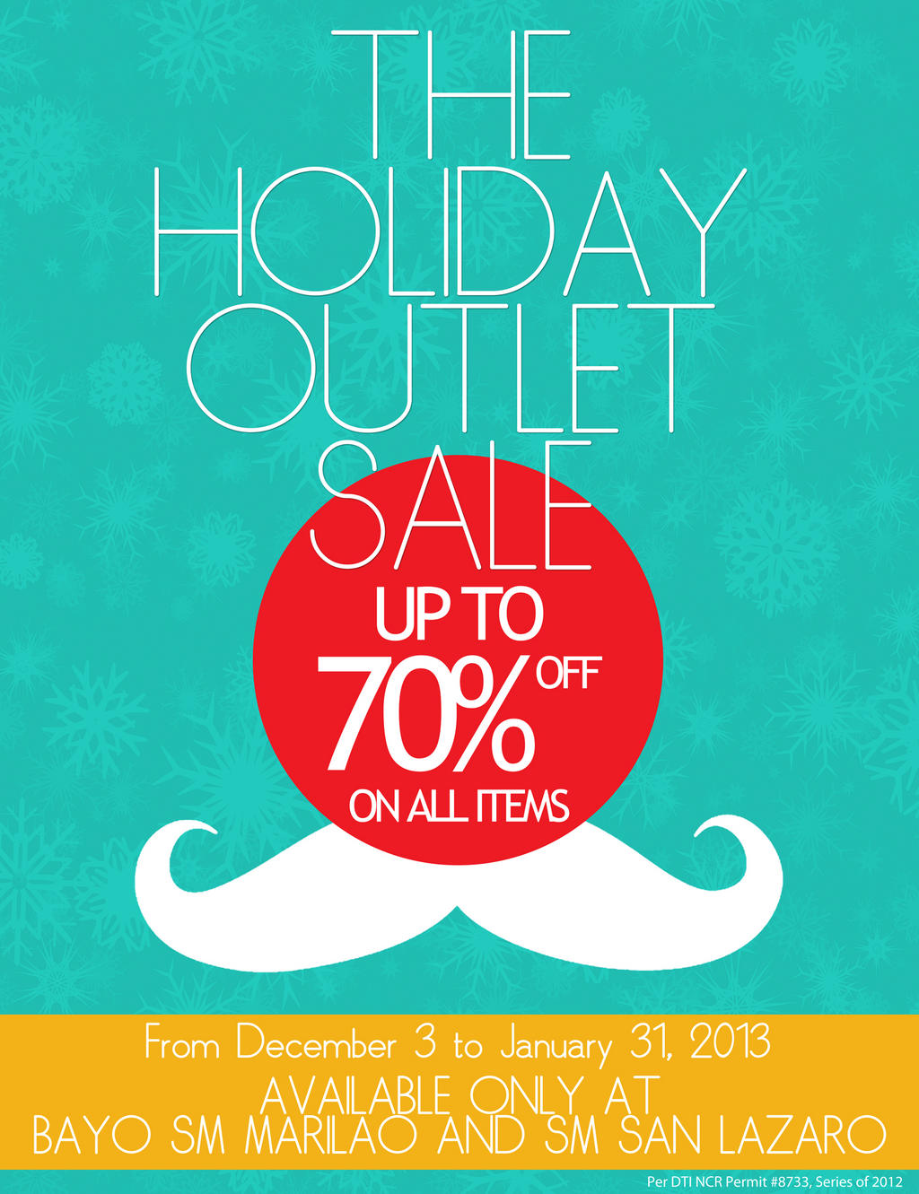 Bayo The Holiday Outlet Sale @ SM City Lazaro & SM City Marilao December - January 2012