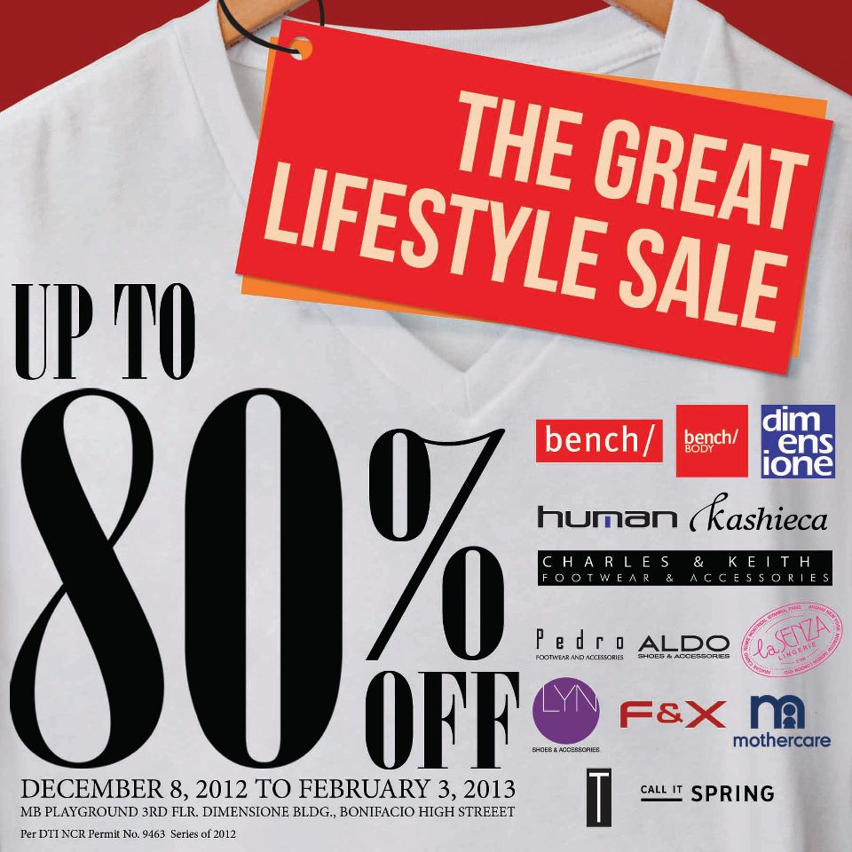 Bench The Great Lifestyle Sale December 2012 - February 2013