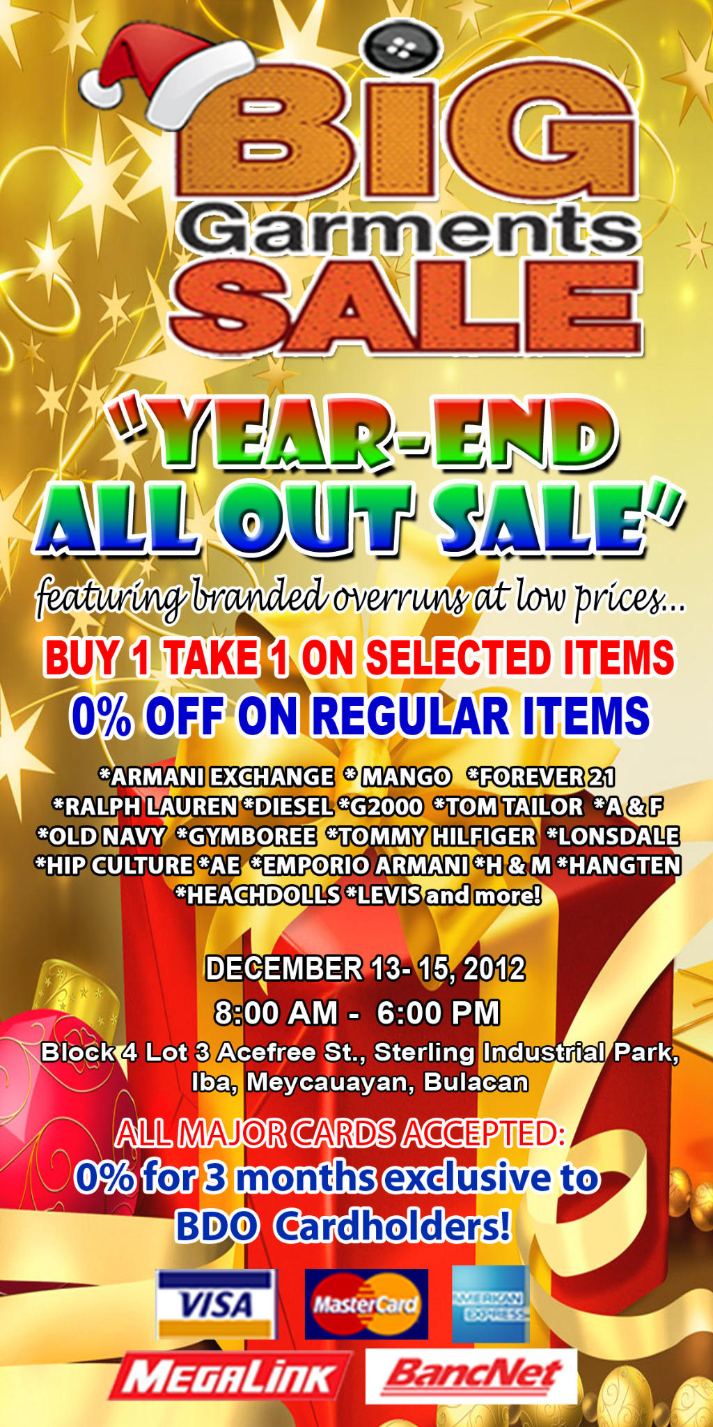 Big Garments Sale December 2012
