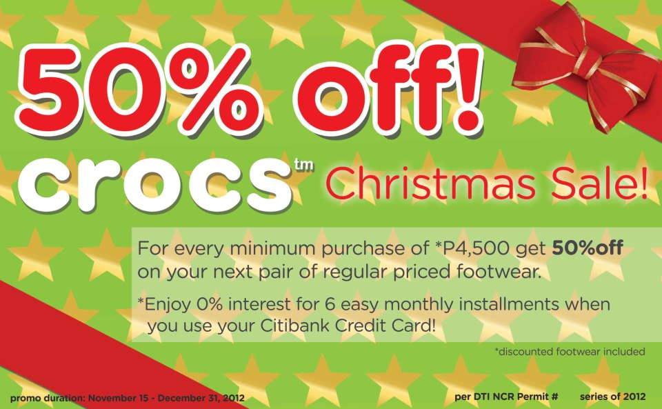 Crocs Christmas Sale December 2012