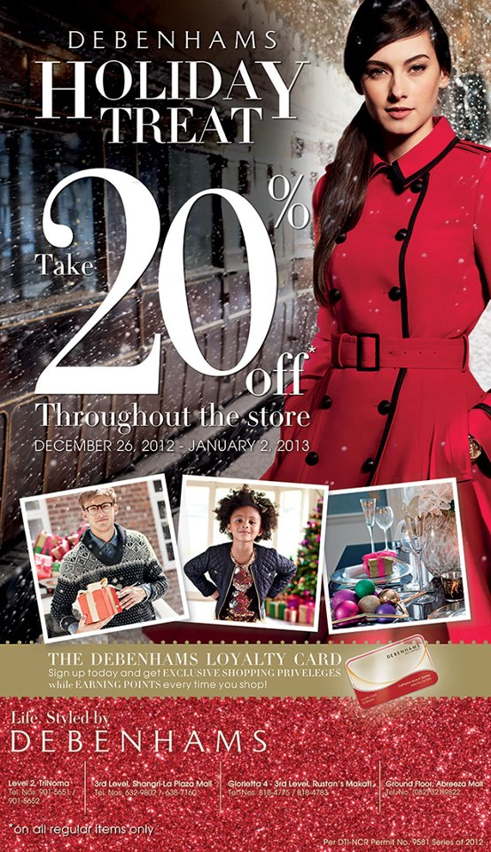 Debenhams Holiday Treat December 2012 - January 2013