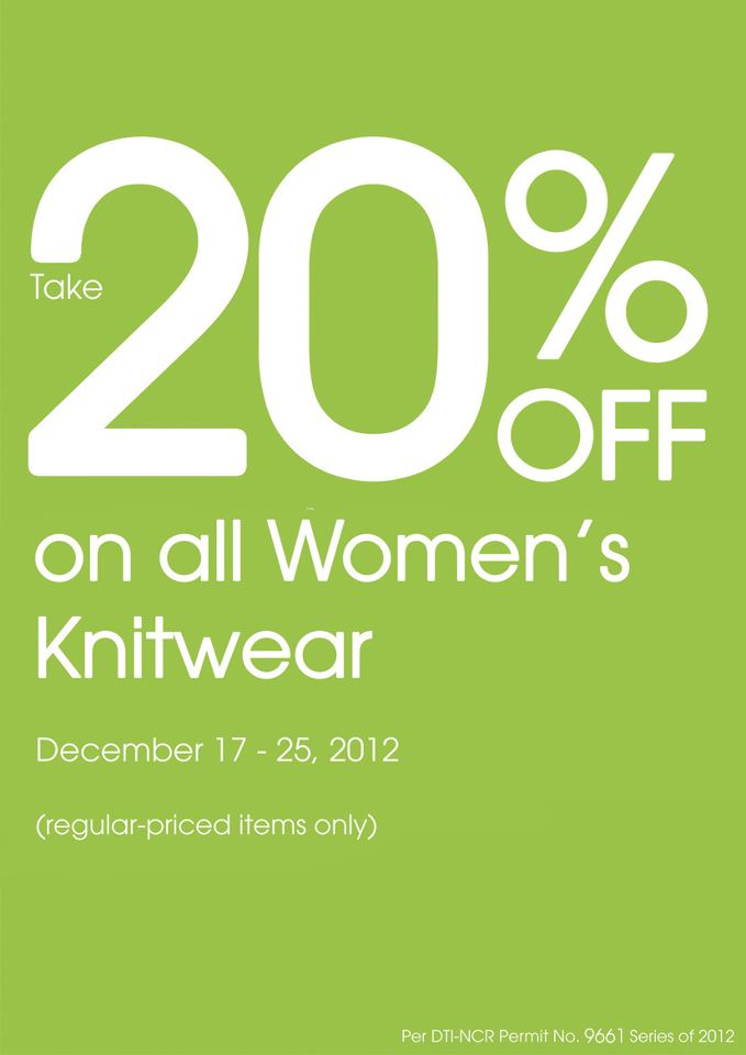 Debenhams Knitwear Sale December 2012