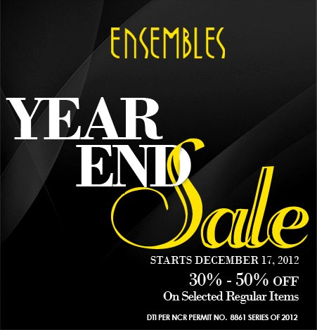 Ensembles Year End Sale December 2012
