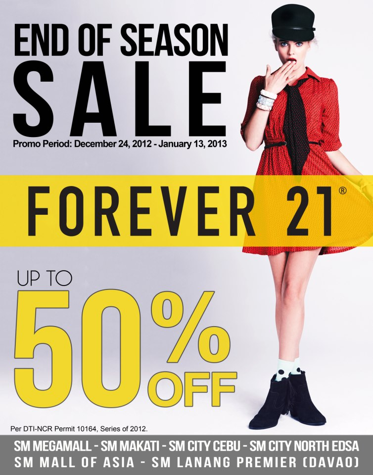 Forever 21 End of Season Sale December 2012 - January 2013