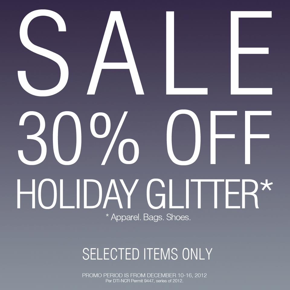 Forever 21 Holiday Glitter Sale December 2012