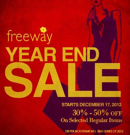 Freeway Year End Sale December 2012
