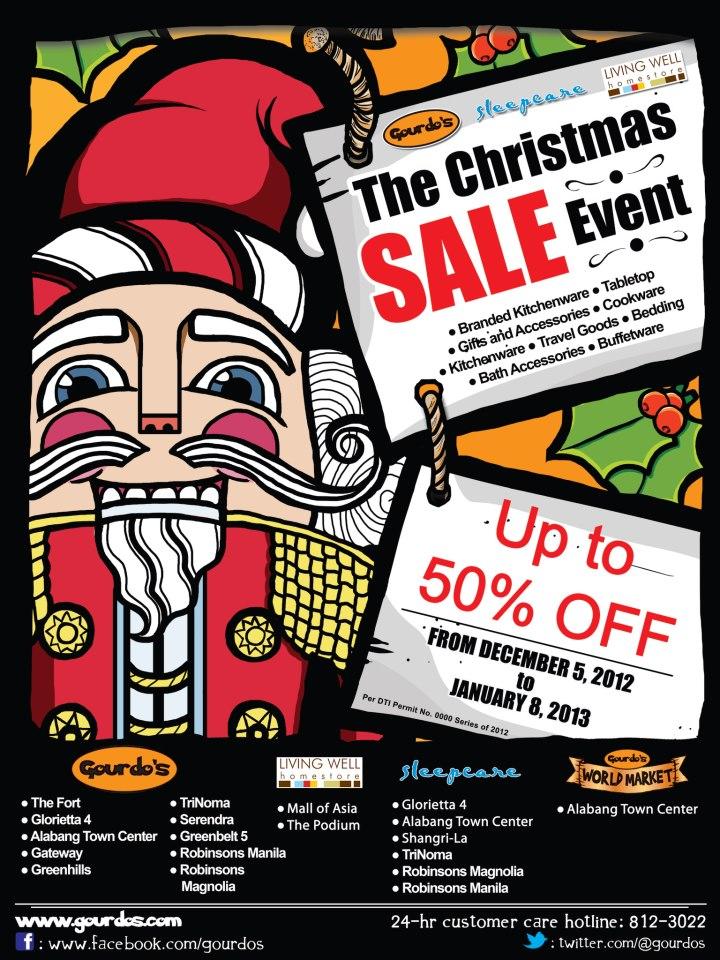 Gourdo, Living Well, Sleepcare Christmas Sale December 2012