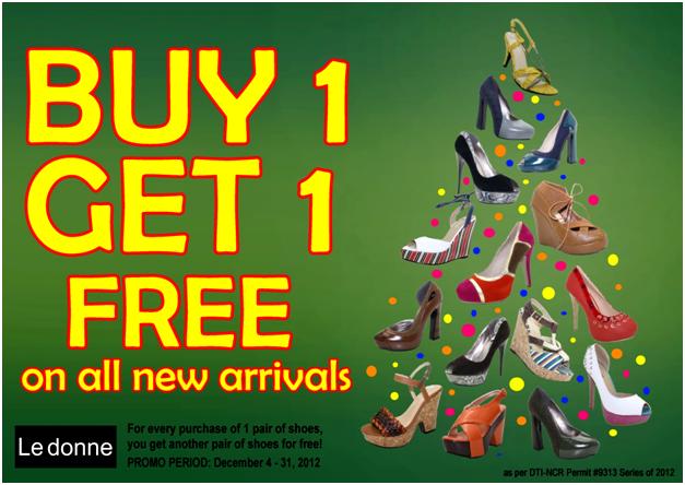 Le Donne Buy 1 Get 1 FREE Promo December 2012