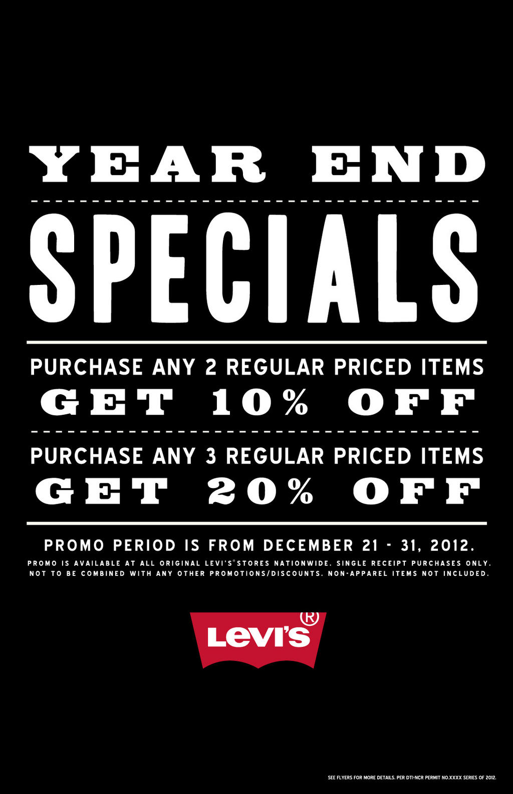 Levis Year End Specials December 2012