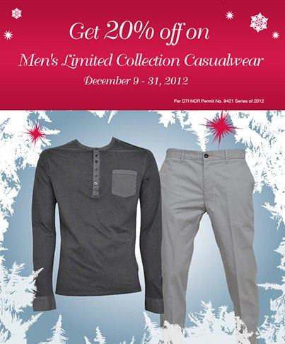 Marks & Spencer Mens Limited Collection Casualwear Sale December 2012