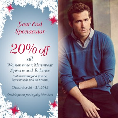 Marks & Spencer Year End Sale December 2012