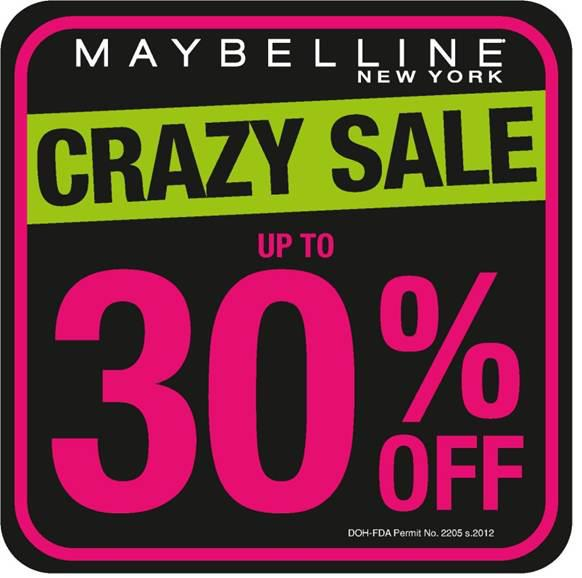 Maybelline Crazy Sale December 2012