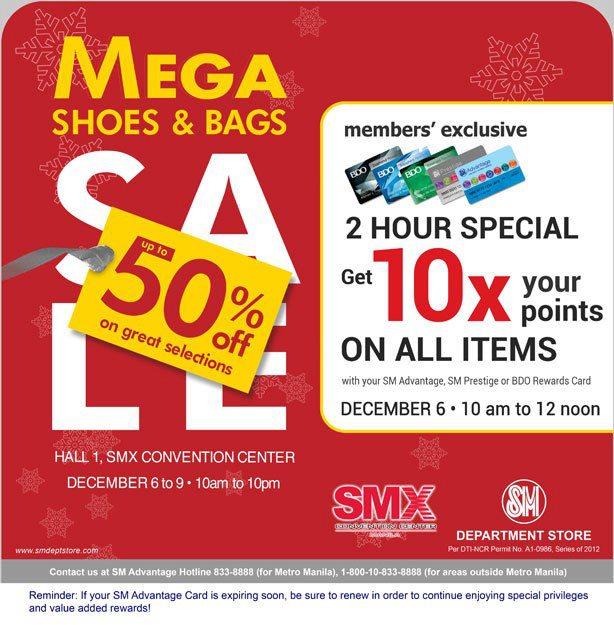 Mega Shoes & Bags Sale @ SMX Convention Center December 2012