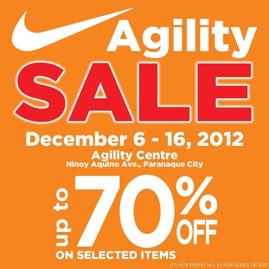 Nike Sale @ Agility Center December 2012