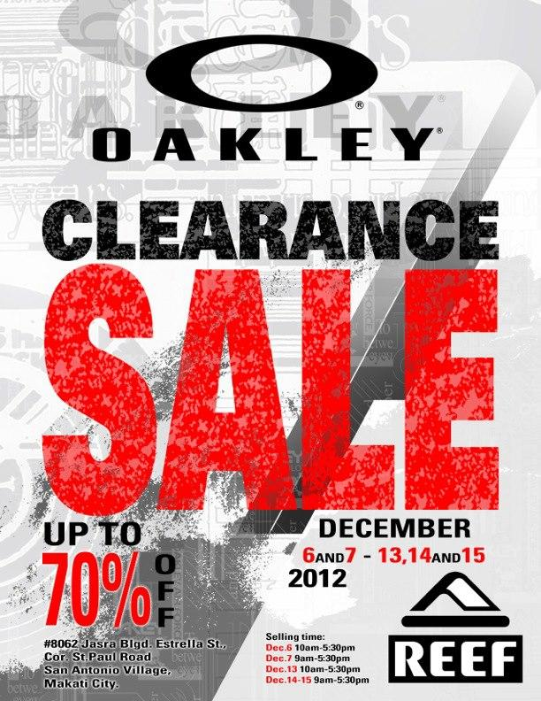 Oakley & Reef Clearance Sale December 2012