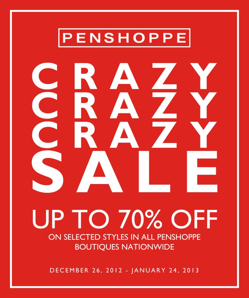 Penshoppe Crazy Sale December 2012 - January 2013