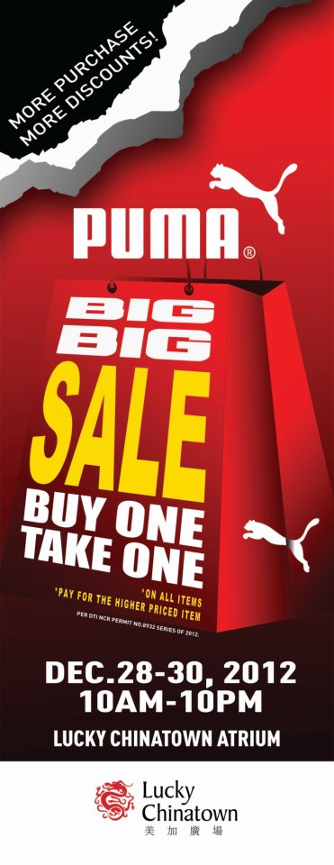 Puma Big Sale @ Lucky Chinatown Mall December 2012