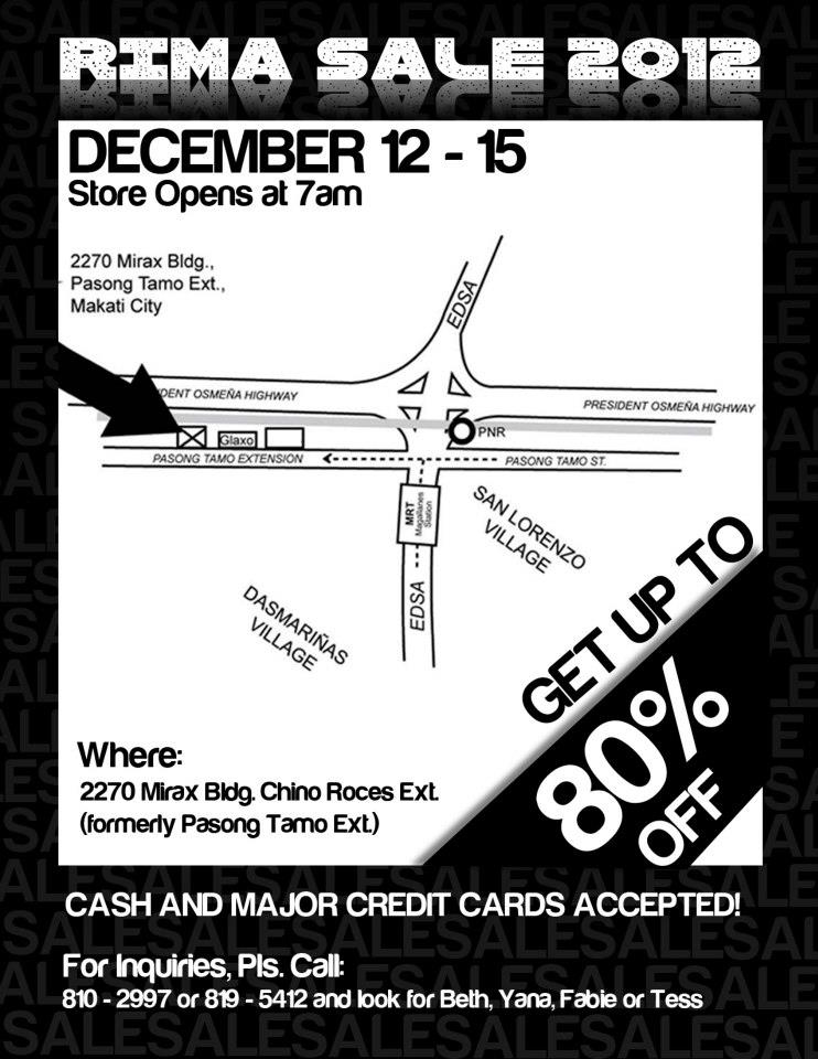 RIMA Sale @ Mirax Building December 2012