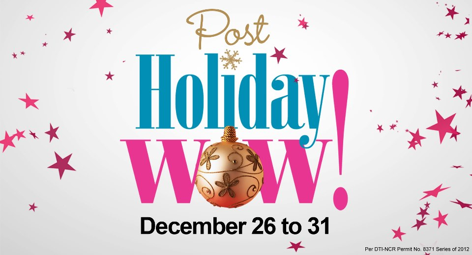 Robinsons Department Store Post Holiday Sale December 2012