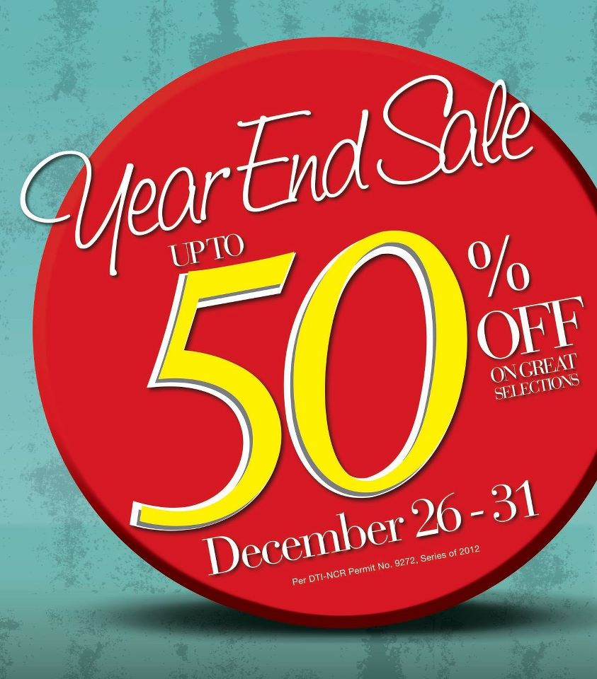 SM Department Store Year End Sale December 2012