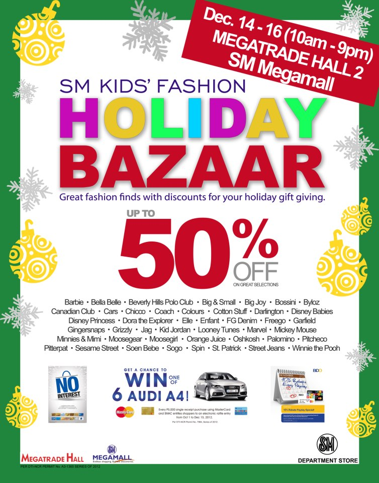 SM Kids Fashion Holiday Bazaar @ SM Megatrade Hall December 2012