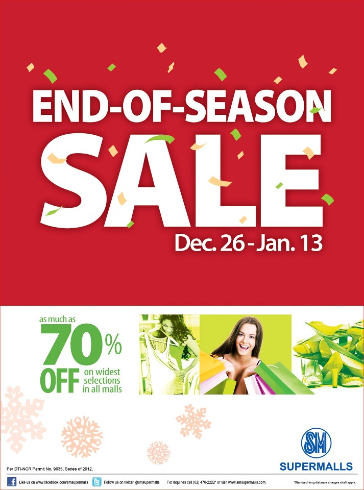 SM Supermalls End of Season Sale December 2012 - January 2013
