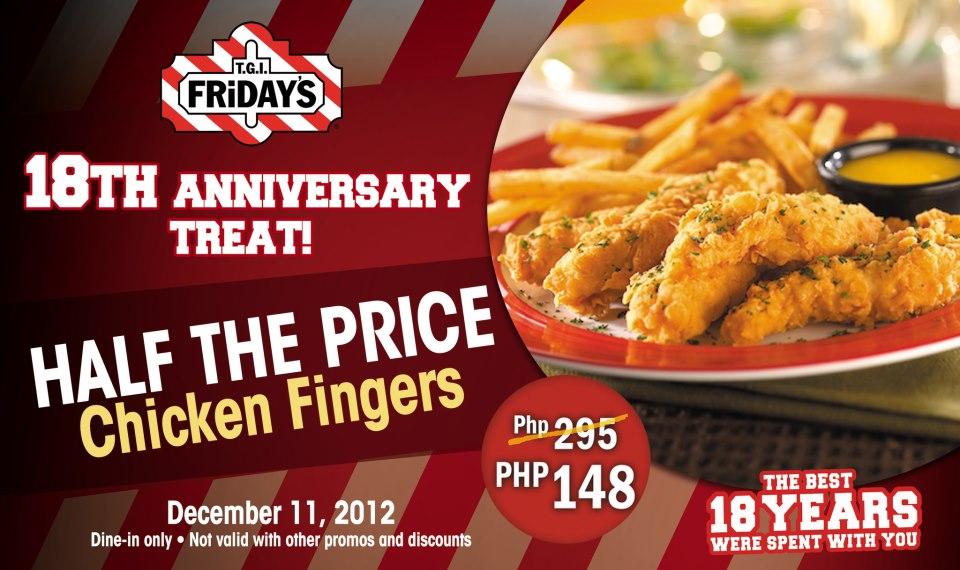 T.G.I. Fridays Anniversary Treat December 2012