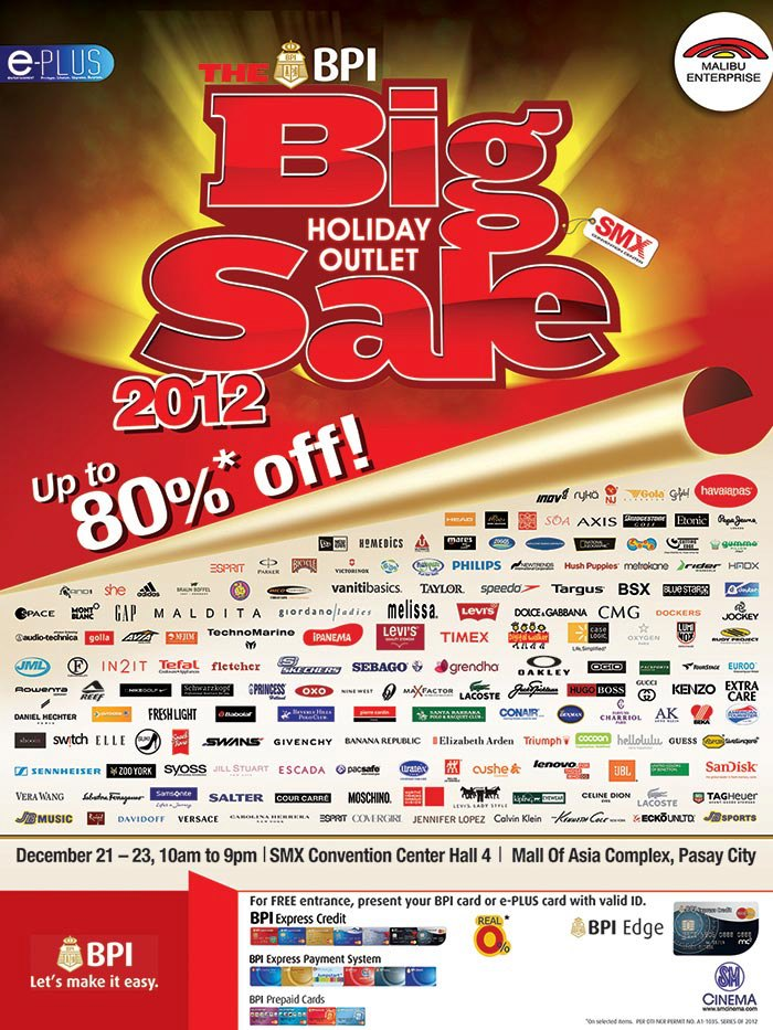 The Big Holiday Outlet Sale @ SMX Convention Center December 2012