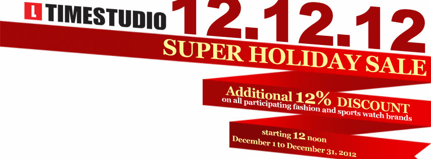 Timestudio Super Holiday Sale December 2012