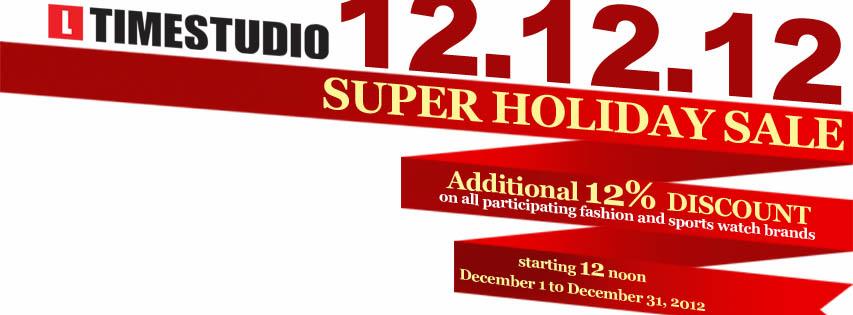 Timestudio Super Holiday Sale December 2012