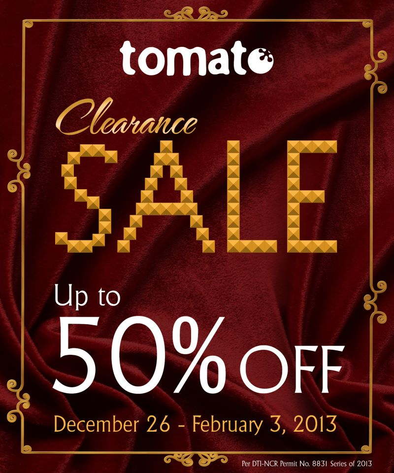 Tomato Clearance Sale December 2012 - February 2013