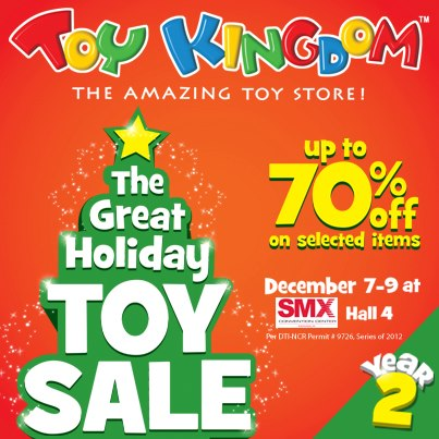 Toy Kingdom The Great Holiday Sale @ SMX December 2012