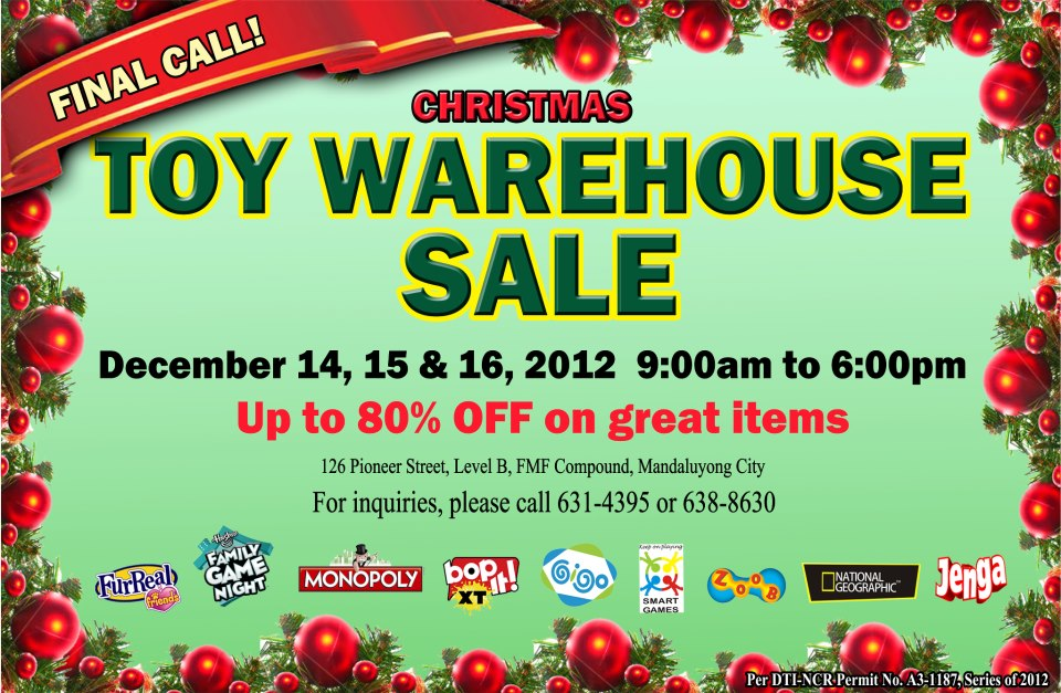 GST Toy Warehouse Sale December 2012
