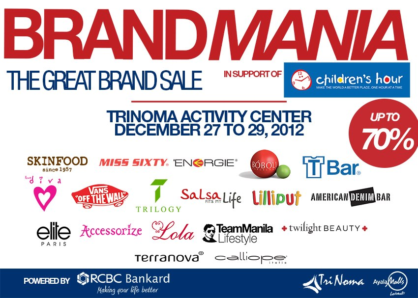 The Great Brand Sale @ Trinoma December 2012
