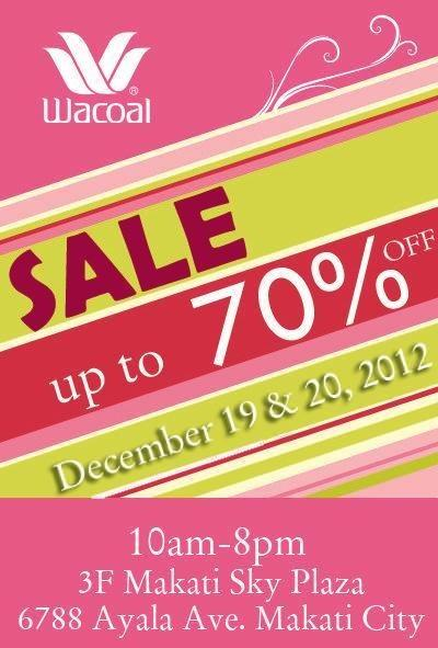 Wacoal Sale December 2012