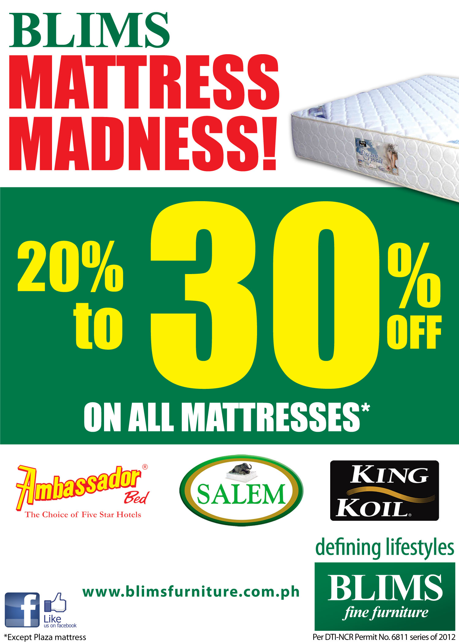 BLIMS Mattress Madness December 2012